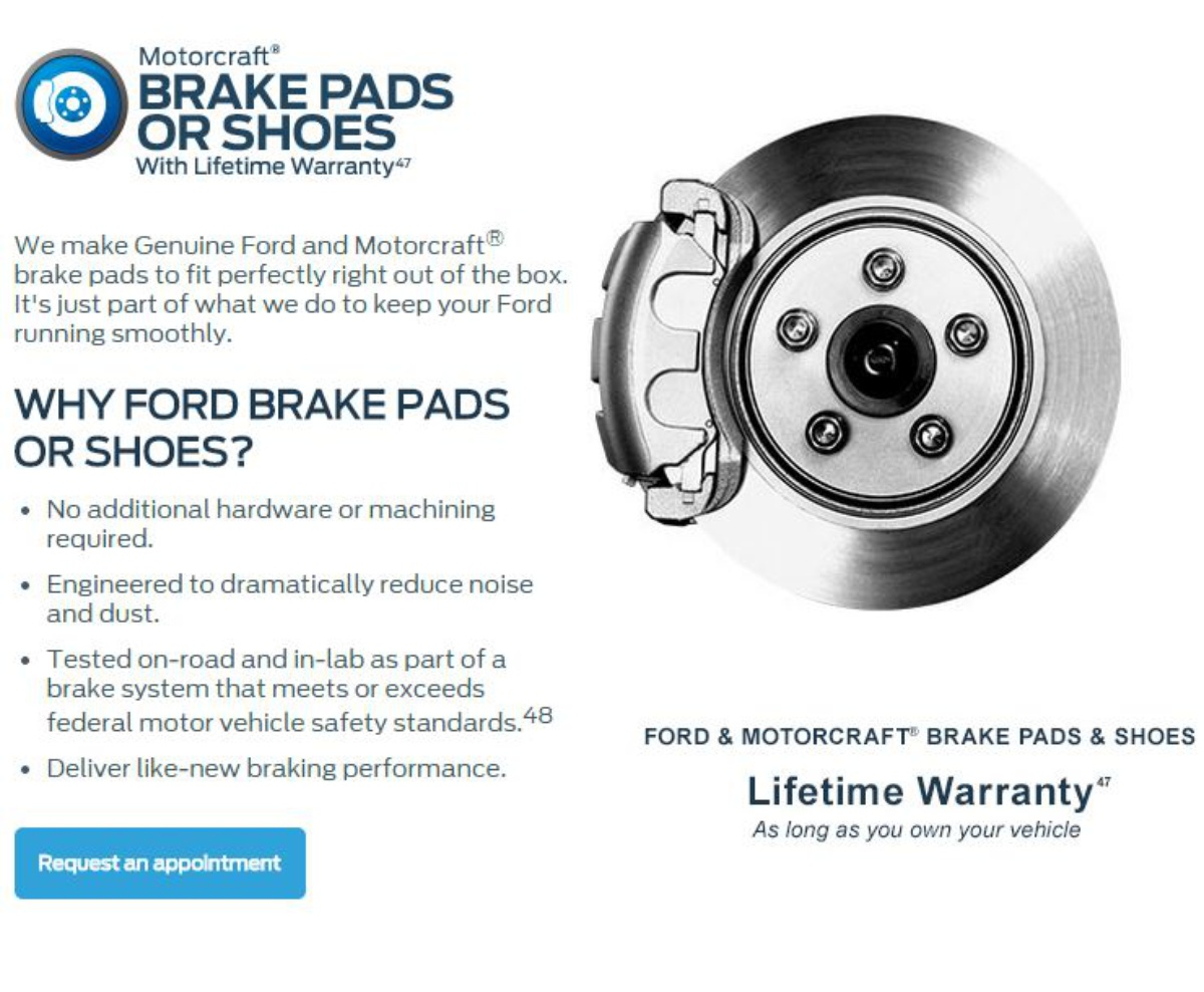 FORD BRAKE PAD & SHOES