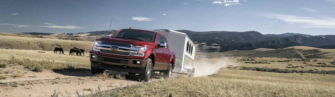 The 2018 F-150 can tow up to 13,200lbs!