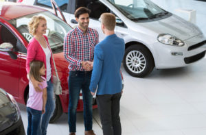Family Purchasing a new car
