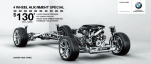 Auto West BMW 2017 Wheel Alignment Specials for only $130