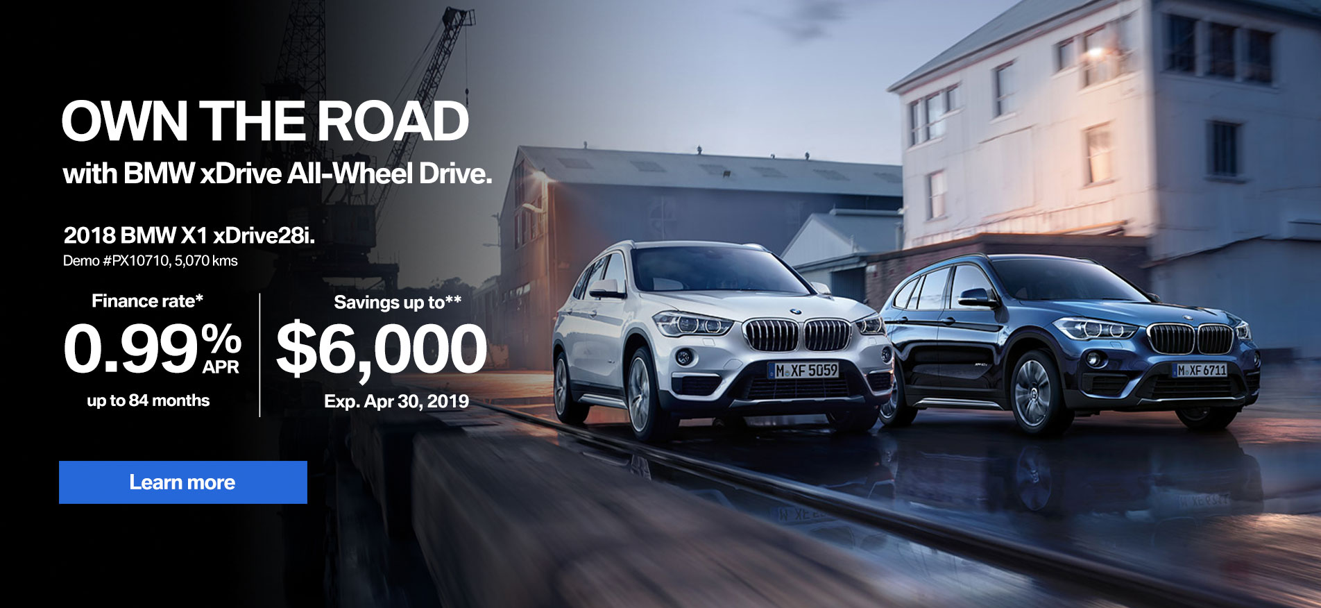 BMW X1 April Demo Sale