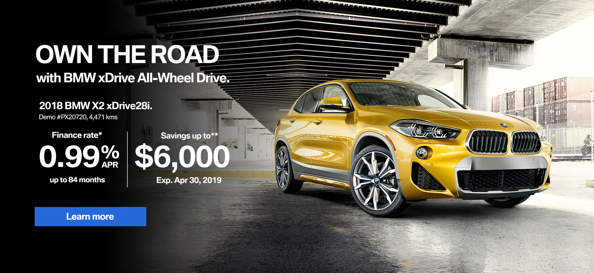 BMW X2 April Demo Sale