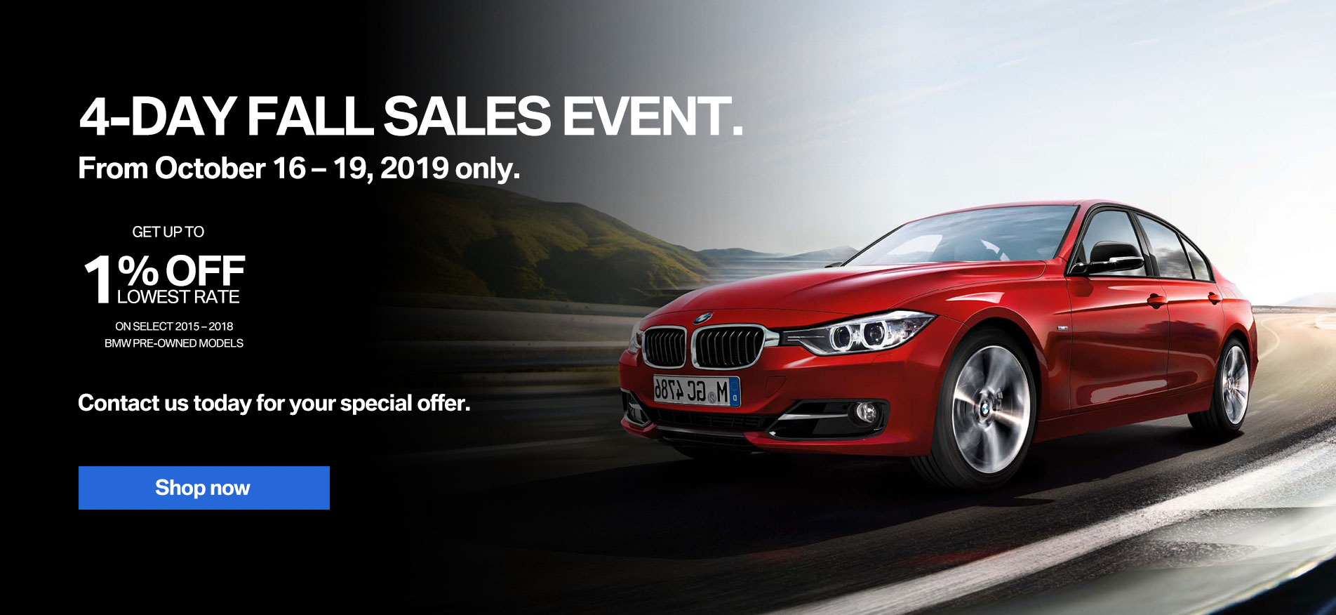 Auto West BMW Pre-Owned Fall Sales Event 2019