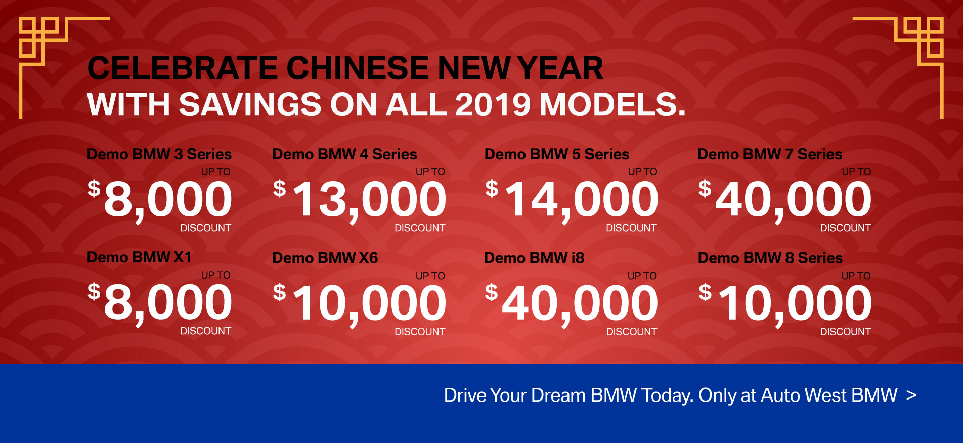 Auto West BMW Chinese New Year Sale 2020