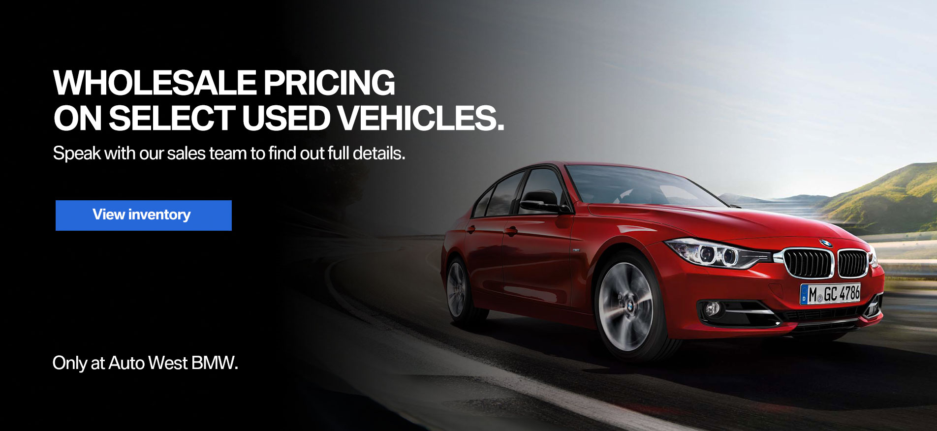 Auto West BMW Pre-Owned Wholesale Pricing