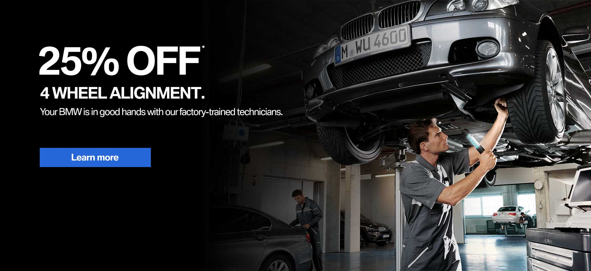 Auto West BMW 25% Off 4 Wheel Alignment
