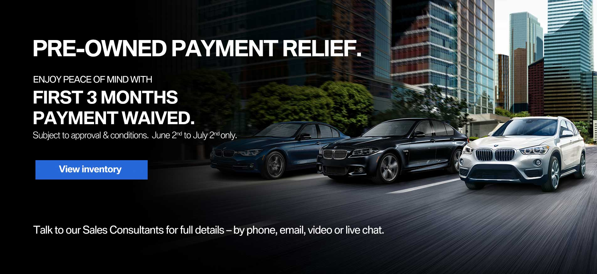 Auto West BMW Used Car Payment Relief June 2020