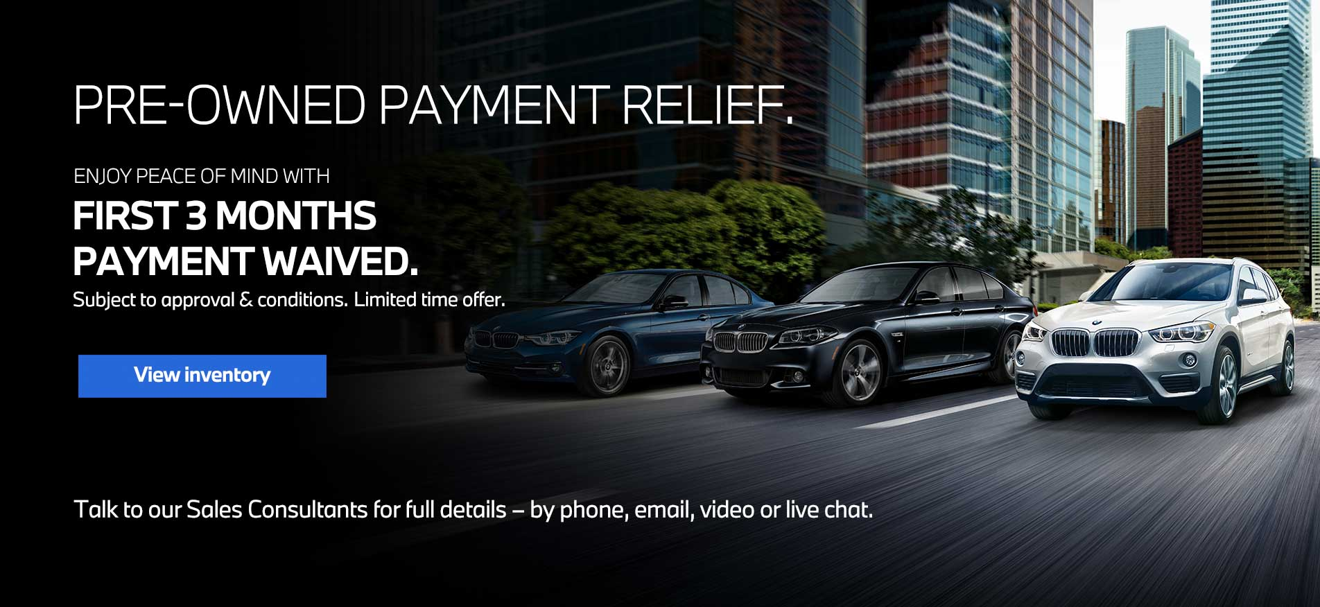 Auto West BMW Used Car Payment Relief