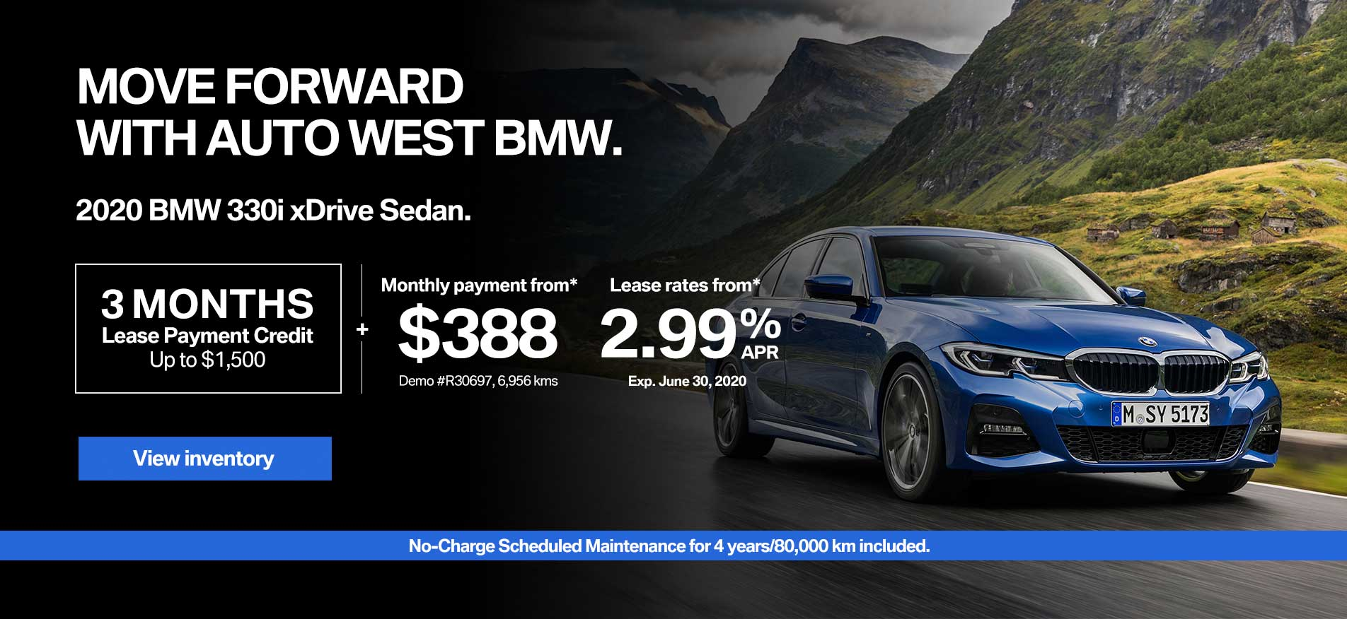 Auto West BMW Demo Lease Payment 3 Series