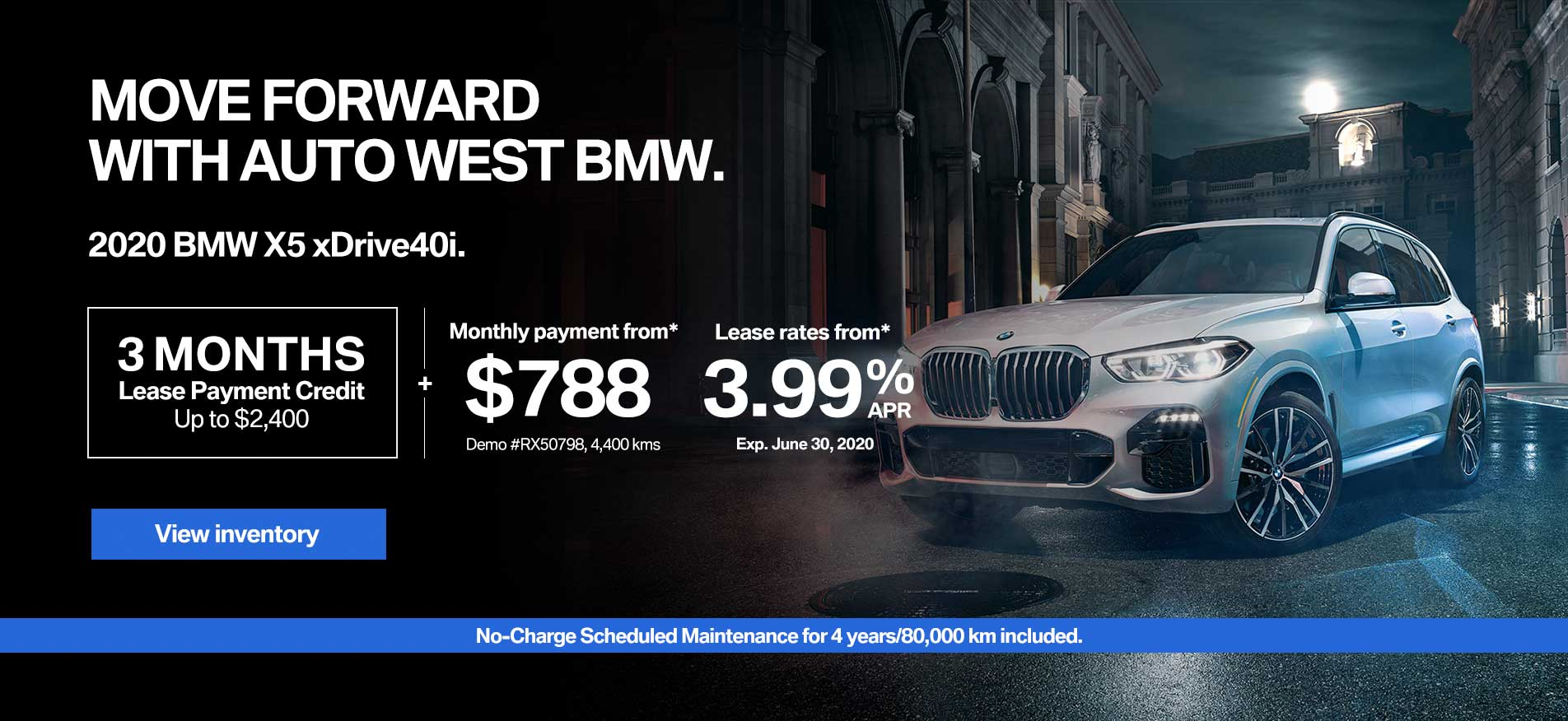 Auto West BMW Demo Lease Payment X5
