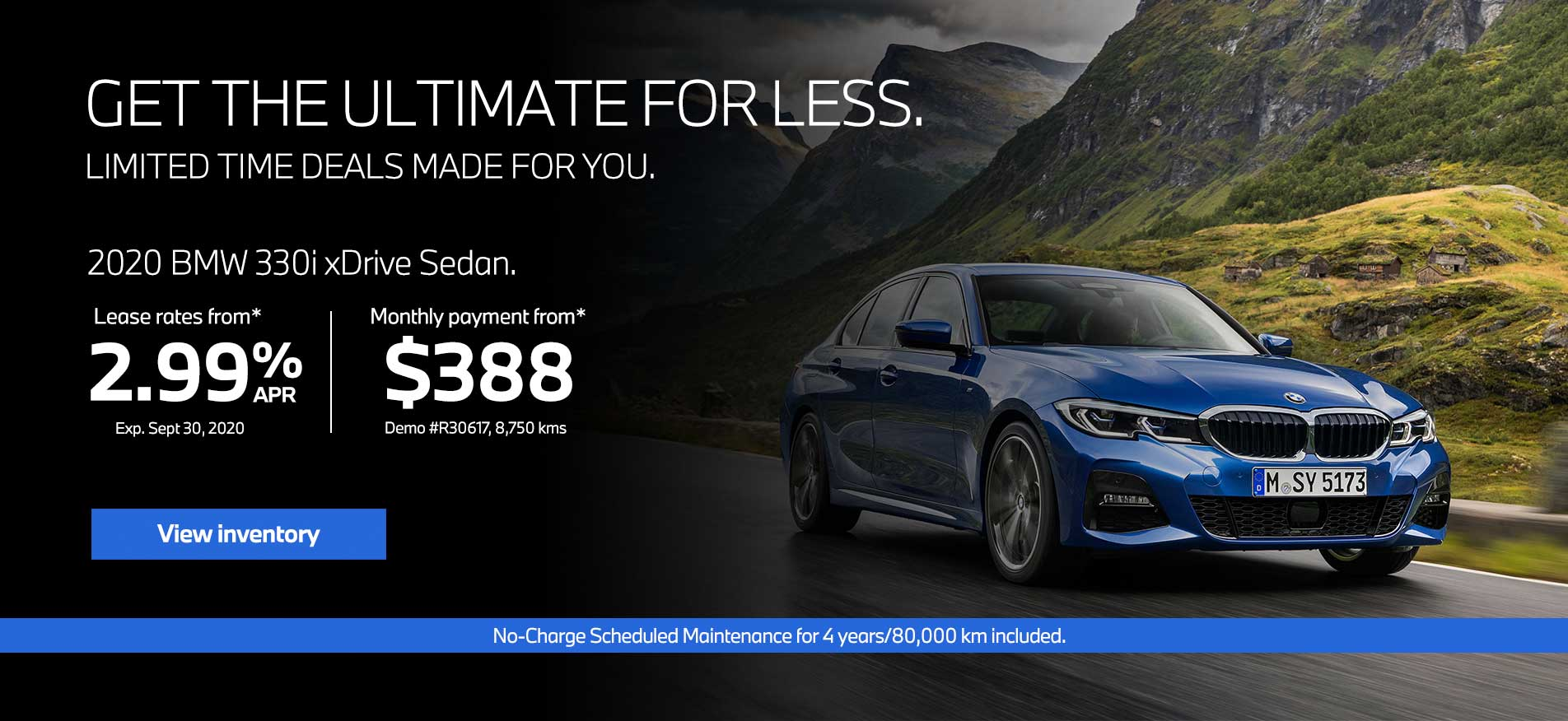 Auto West BMW September Offers 3 Series