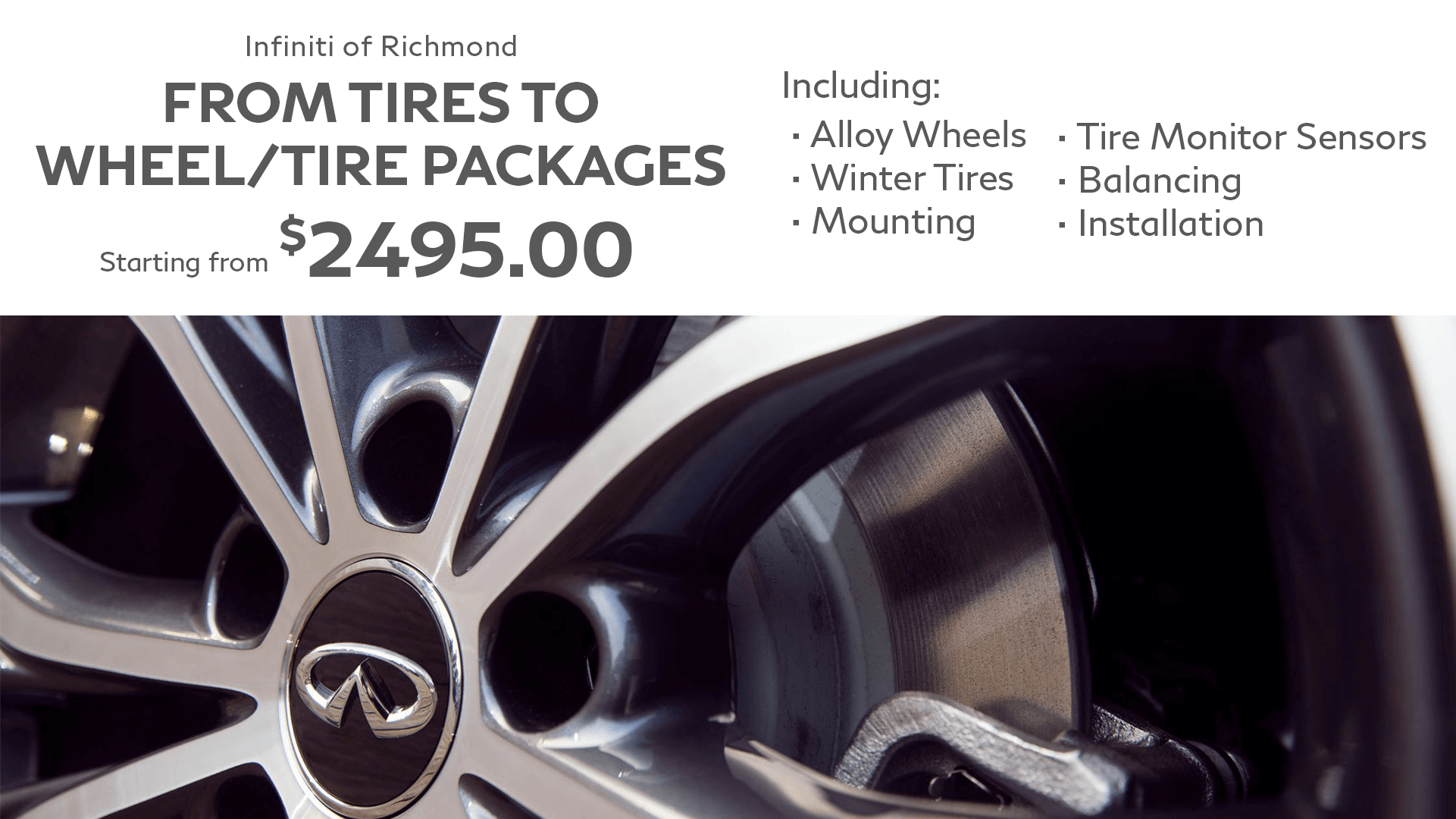 tires to wheel/tire packages