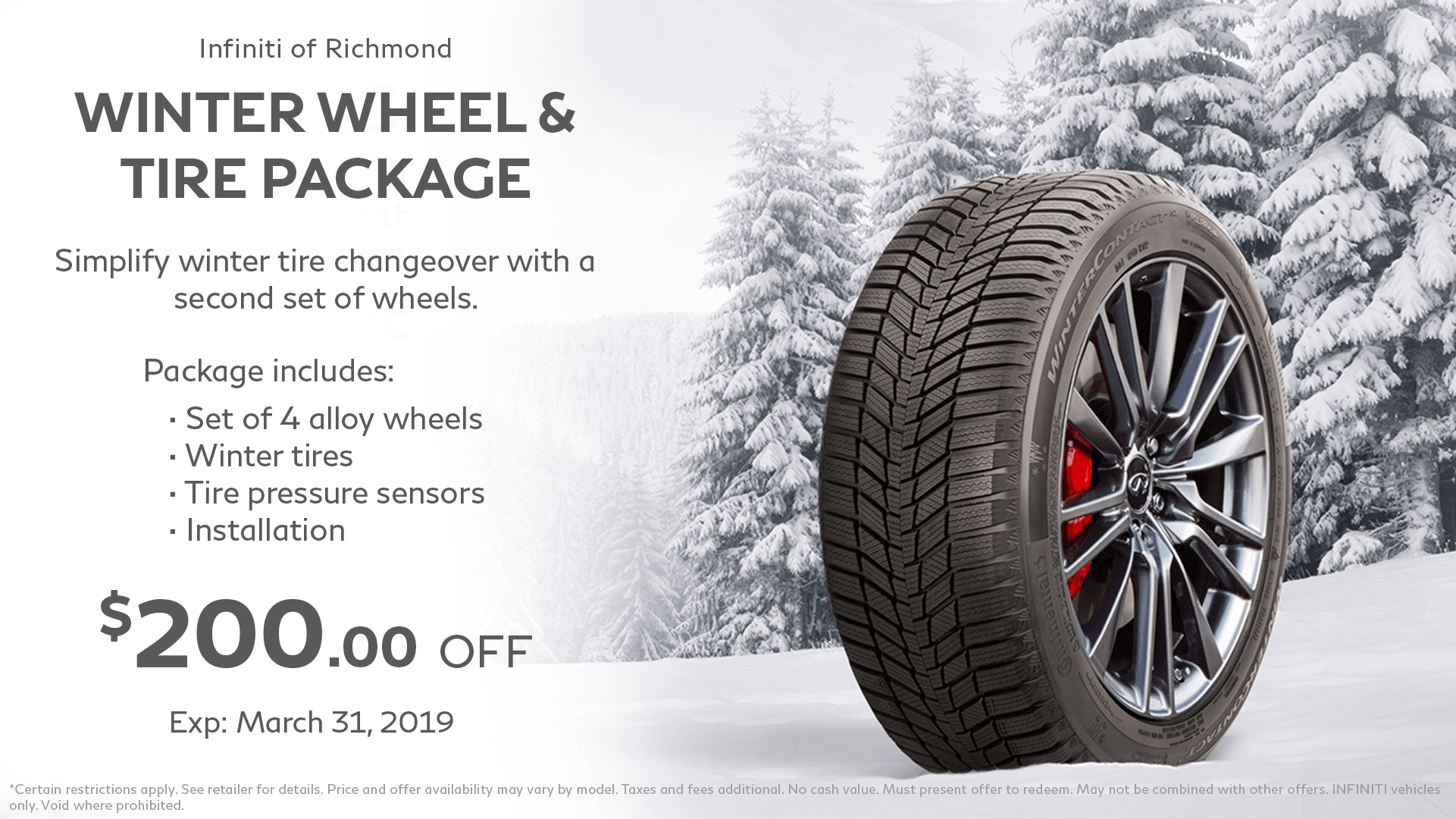 tires to wheel/tire package