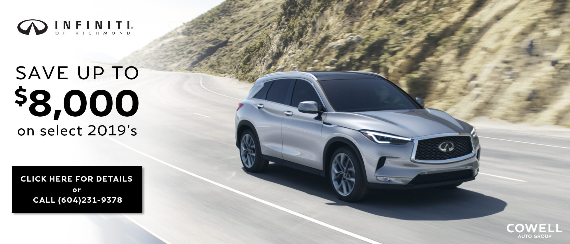 2019 QX50, Infiniti of Richmond in Metro Vancouver, luxury car dealership
