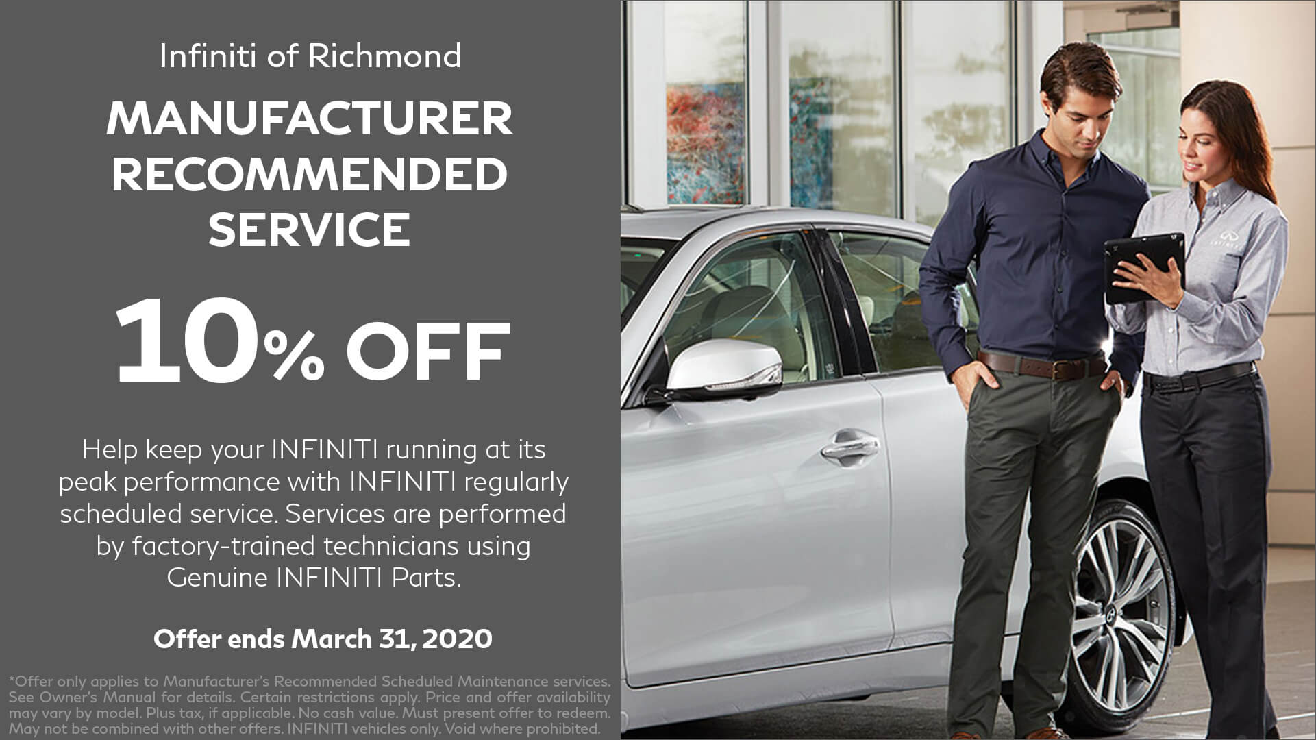 Manufacture Recommended Service at Infiniti of Richmond