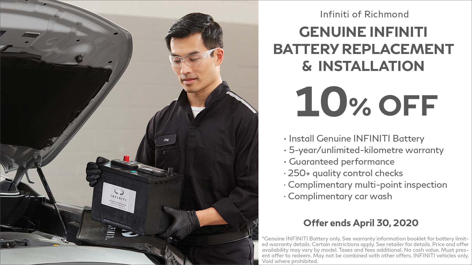 Genuine Infiniti Battery Replacement Installation at Infiniti of Richmond