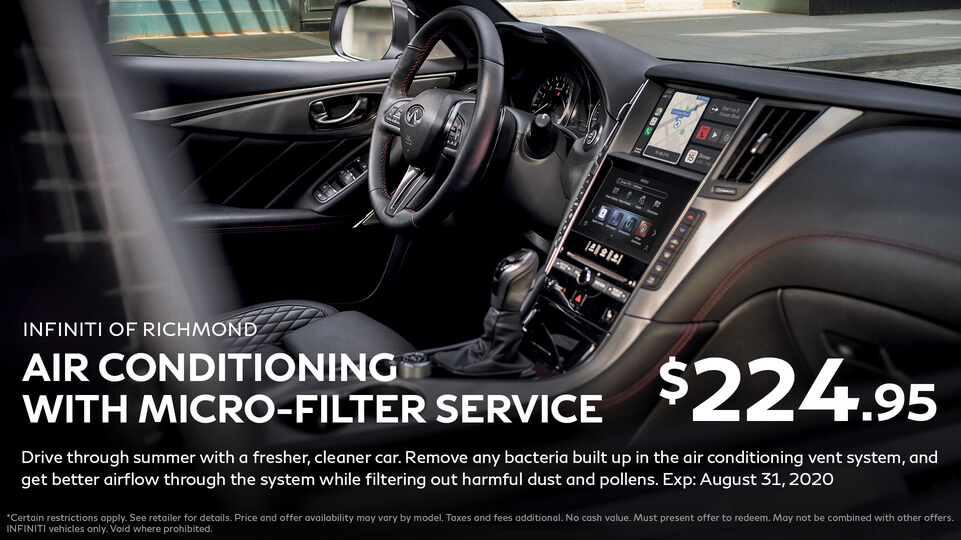 A/C with Micro-filter service at Infiniti of Richmond