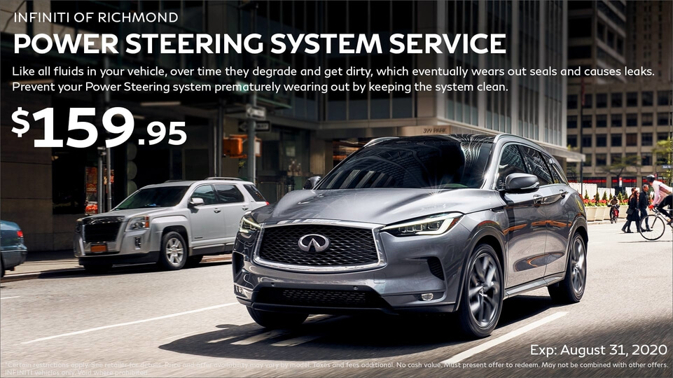 Power Steering System Service at Infiniti of Richmond