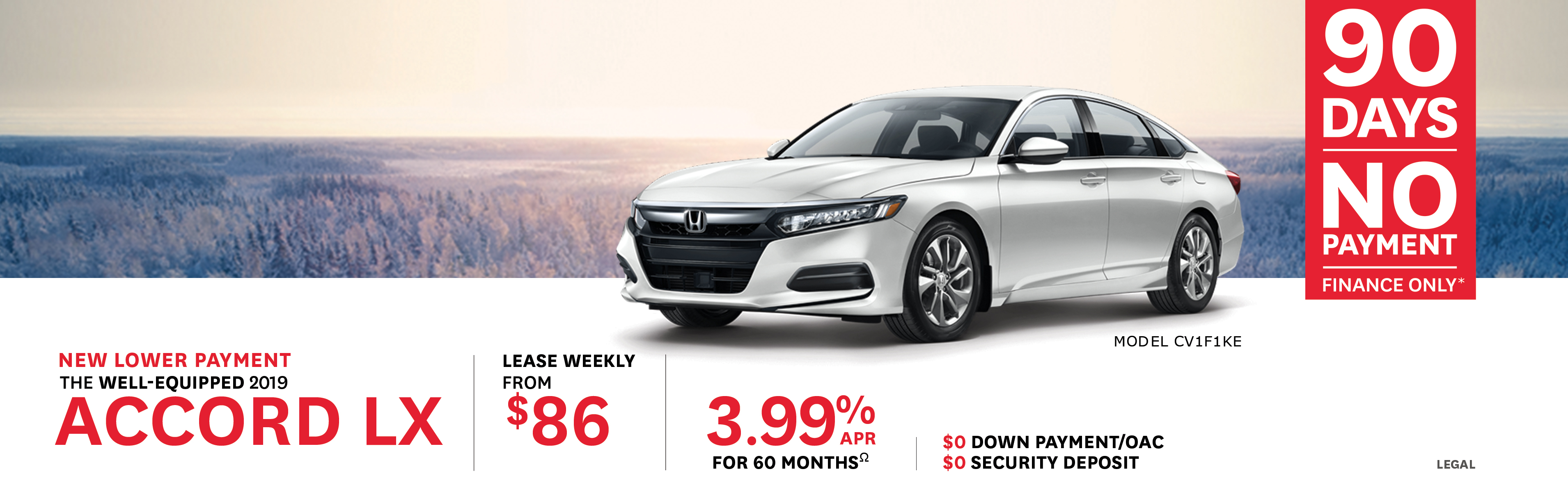 2019 Feb Honda Offer - Accord