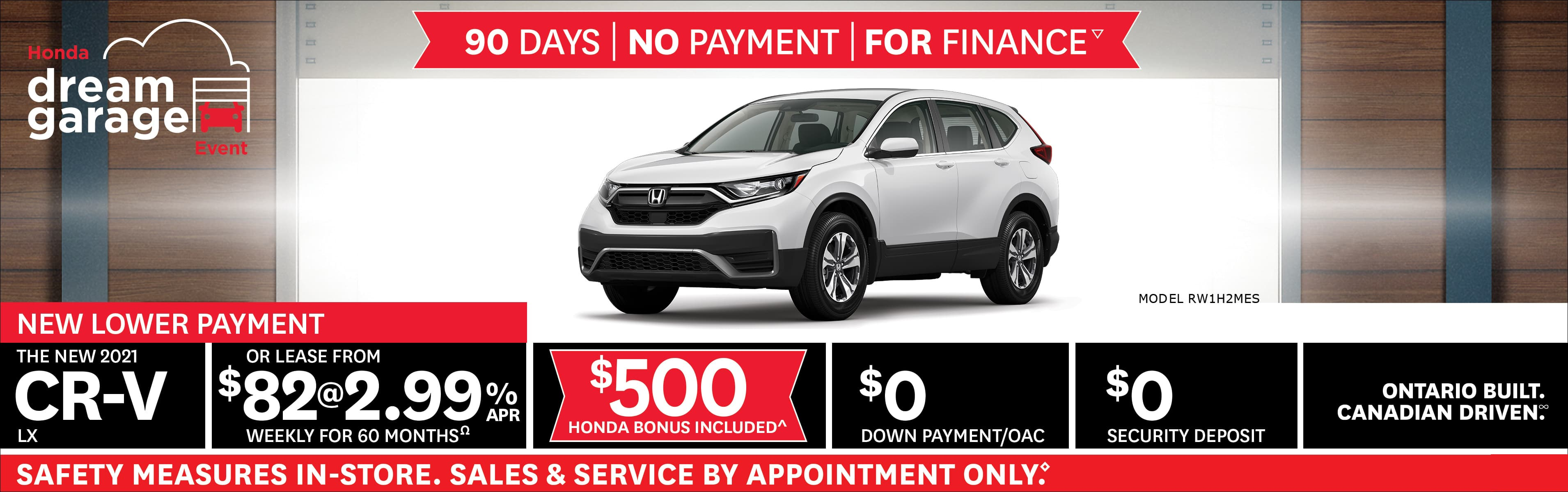 Honda CR-V Feb 2021 Incentive