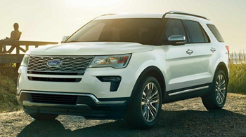 Explorer Platinum with standard satin chrome grille
