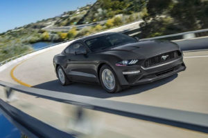 Black Mustang on the Highways