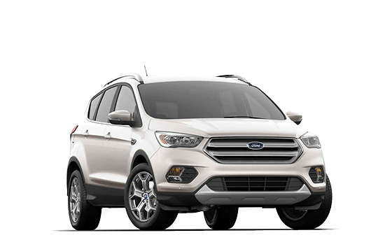 A 2019 Ford Escape at a 3/4 angle in white