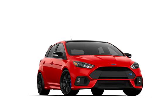A 2019 Ford Focus at a 3/4 angle in red