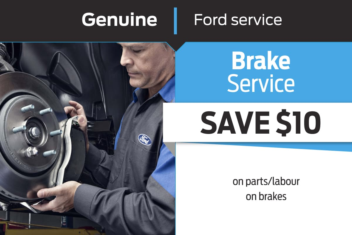 Genuine Ford Service Brake Service Coupon