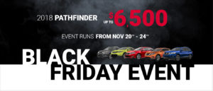 Nissan Black Friday event Slide