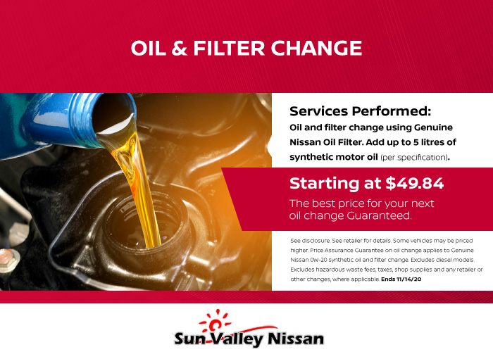 Oil and Filter Change Coupon