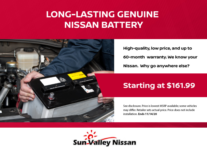 Long-Lasting Genuine Nissan Battery Coupon
