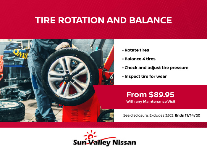 Tire Rotation and Balance Coupon