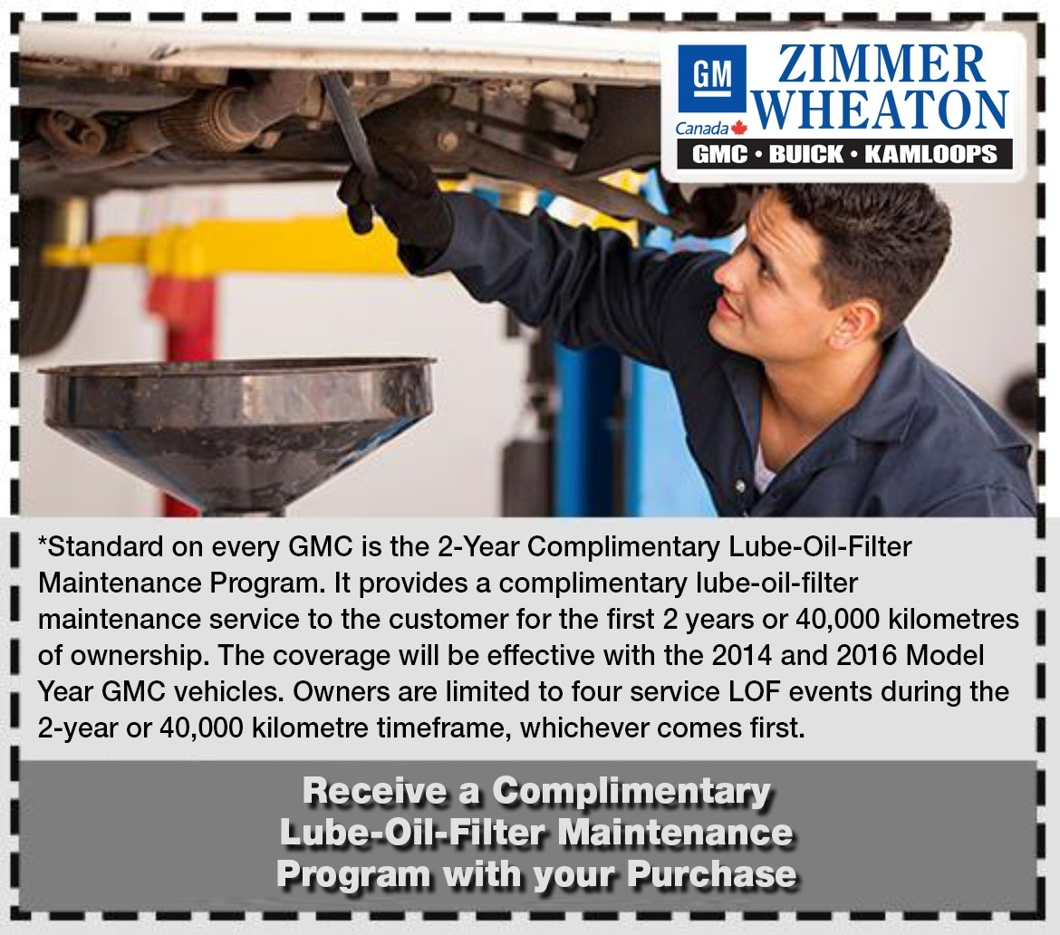 Complimentary Lube-Oil-Filter Maintenance