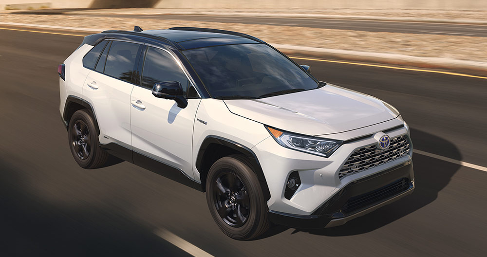 Toyota 2019 RAV4 driving down road