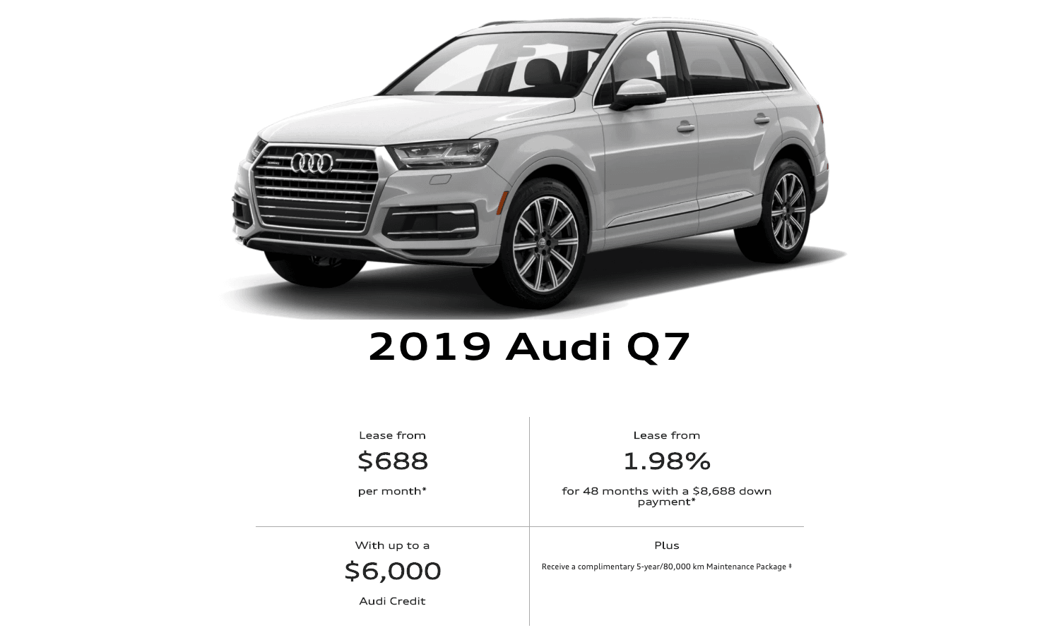 2019 Audi Q7 To