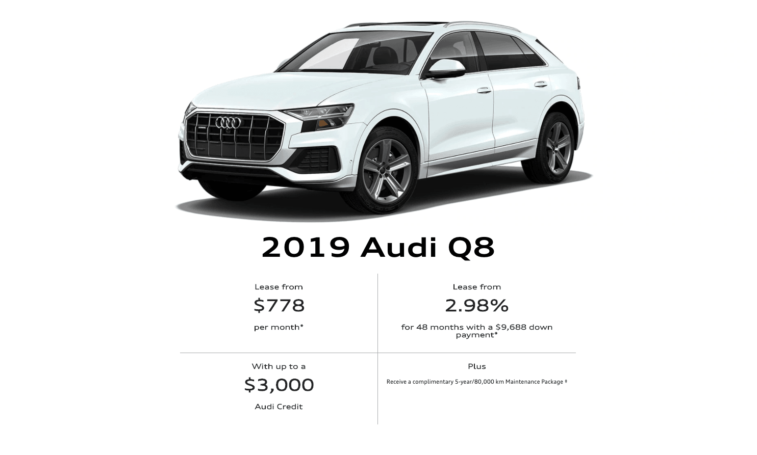 2019 Audi Q8 To