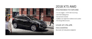 October Cadillac offer