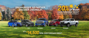 October Chevrolet offer