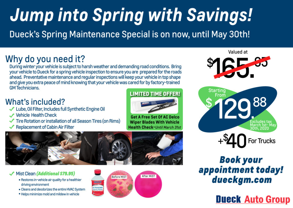 Jump Into Spring Service Special