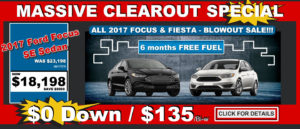 Ford Focus and Fiesta Blowout