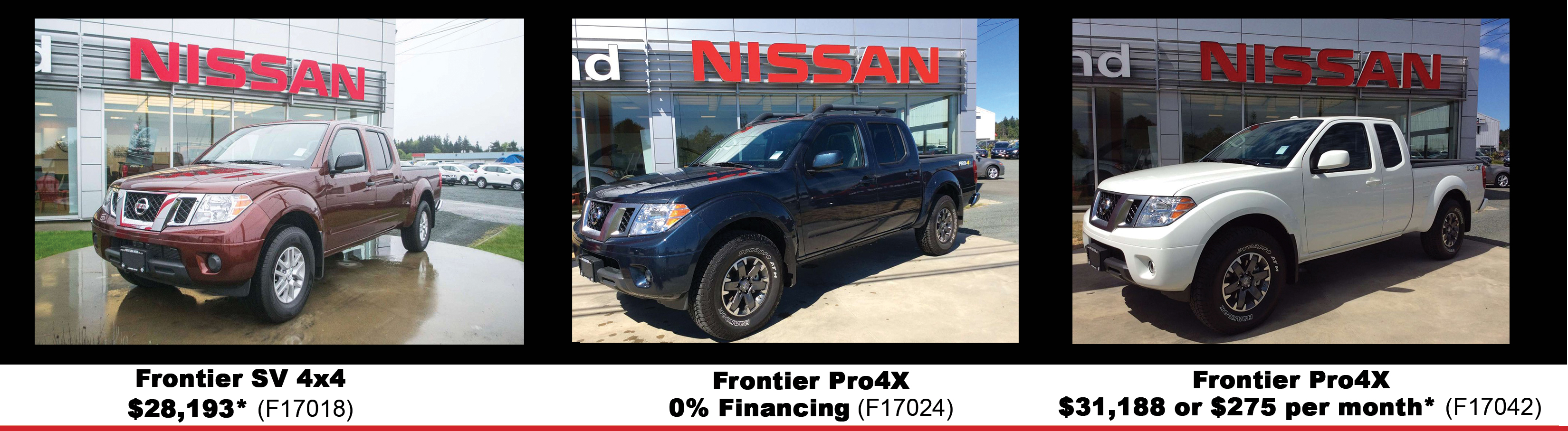 nissan frontier inventory