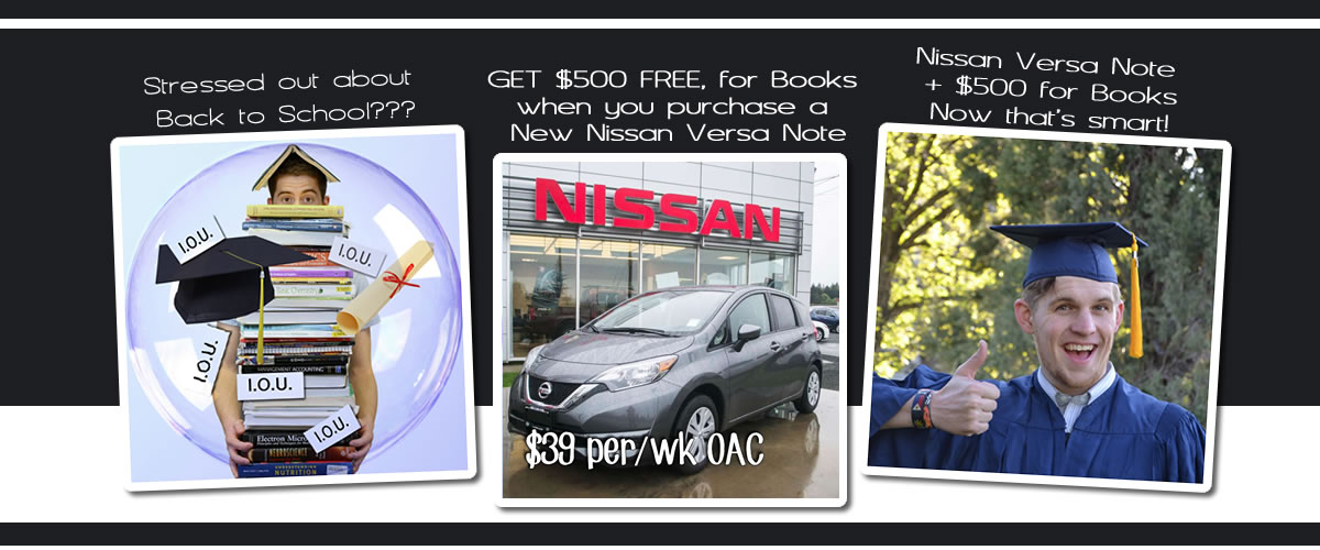 Nissan Versa Note plus $500 for Books