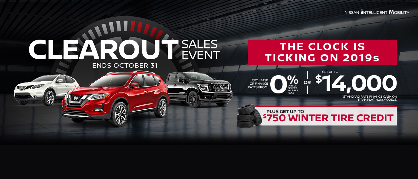 October Nissan incentive