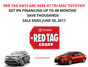 June Toyota Red Tag Days