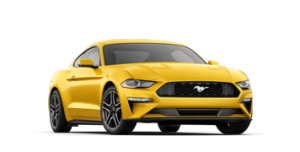 Stock Image of 2018 Ford Yellow Mustang