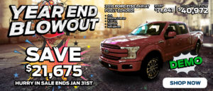 Blowout Sale with a Demo F150 Trucks Slide
