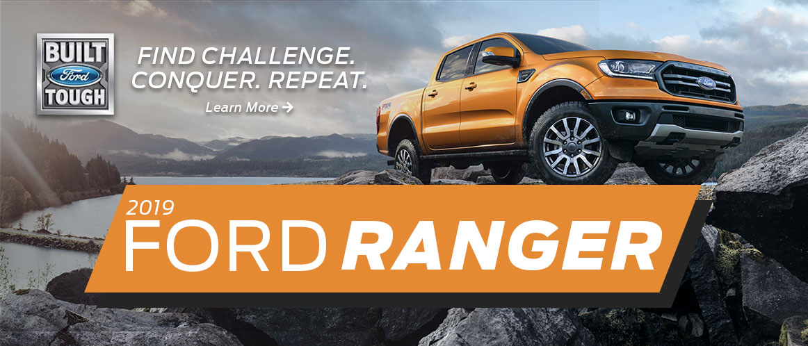 Website Slider Image of Orange 2019 Ford Ranger
