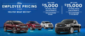 Ford Employee Pricing Discount Slider Image
