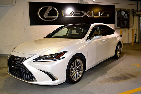 white Lexus car